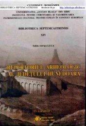 Repertoriu Arheologic Hunedoara - Institutul pentru cercetarea şi ...