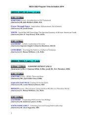 WEEK ONE: July 1-5, 2013 (M,T,Th,F)