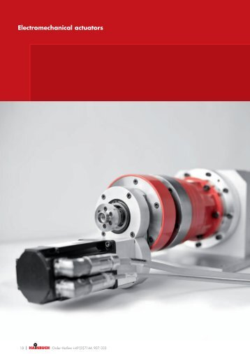 Electromechanical actuators