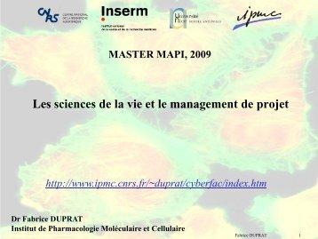 Déroulement du cours - IPMC - CNRS