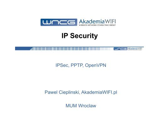 IP Security - MUM - MikroTik