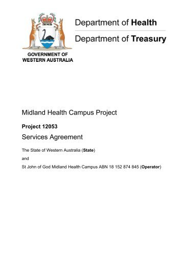 Services Agreement - Department of Treasury