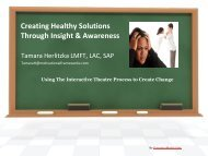 Creating Healthy Solutions through Insight and Awareness - Women ...