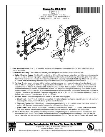 CW-D-1010 - STI - Specified Technologies Inc