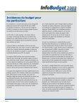 Points saillants du budget Incidences du budget pour les particuliers - Page 2