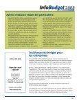 Points saillants du budget Incidences du budget pour les particuliers - Page 3