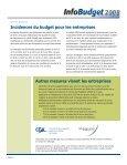 Points saillants du budget Incidences du budget pour les particuliers - Page 4
