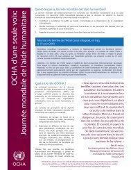 Journée mondiale de l'aide humanitaire - OCHANet