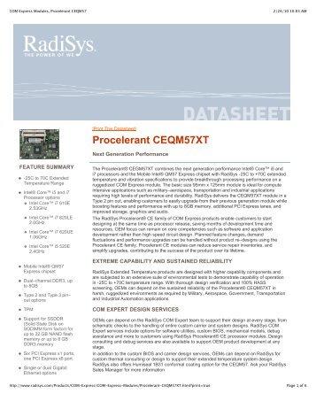Procelerant CEQM57XT
