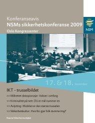 Konferanseavis for NSMs sikkerhetskonferanse 2009.