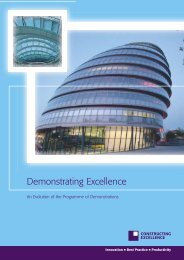 Demonstrating Excellence Report - Constructing Excellence