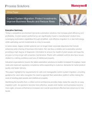 Control System Migration: Protect Investments, Improve ... - ISA
