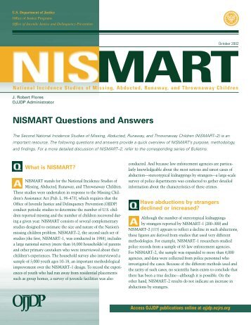 NISMART Questions and Answers - National Center for Missing and ...