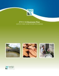 WSP Business Plan FY2011-FY2015