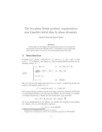 preprint - Department of Mathematics - University of Arizona