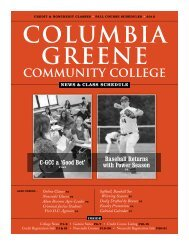Fall 2012 News & Class Schedule - Columbia-Greene Community ...