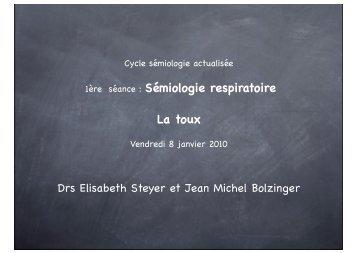 1ère séance : Sémiologie respiratoire La toux - ammppu