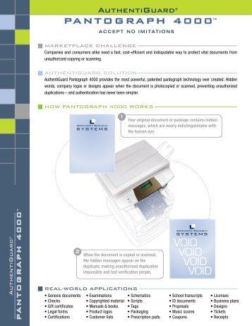 Pantograph 4000™ PDF - PrecisionIR