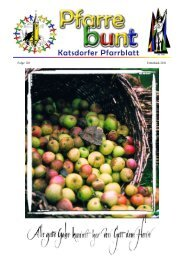 Elisabethsammlung 2011 - Pfarramt Katsdorf