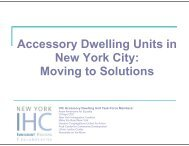 Accessory Dwelling Units in New York City: Moving to Solutions