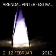 arendal vinterfestival 2–12 februar 2012 - Arendal kommune