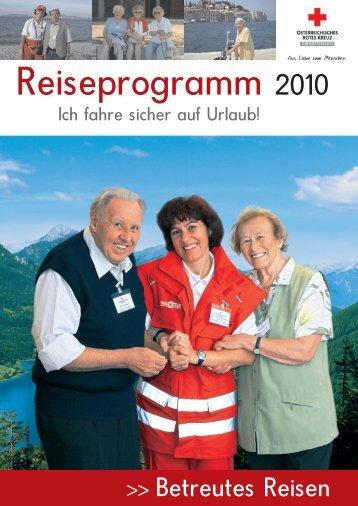 Reiseprogramm 2010 - Rotes Kreuz
