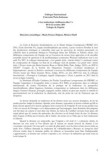 Textes - Centre de Recherches Interdisciplinaires sur les Mondes ...