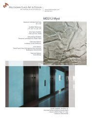 Download Product Data Sheet for MD212 Myst - Meltdown Glass