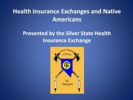 Health Insurance Exchanges and Native Americans - Silver State ...