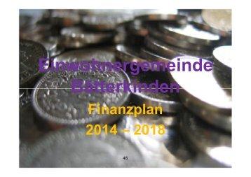 Finanzplan 2014 - 2018 - Bätterkinden