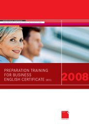 preparation training for business english certificate (bec) - OFFICE ...