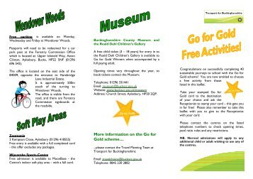 Incentives leaflet September 2011 - Buckinghamshire County Council