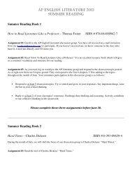 AP English Literature Summer Reading List - Junipero Serra High ...