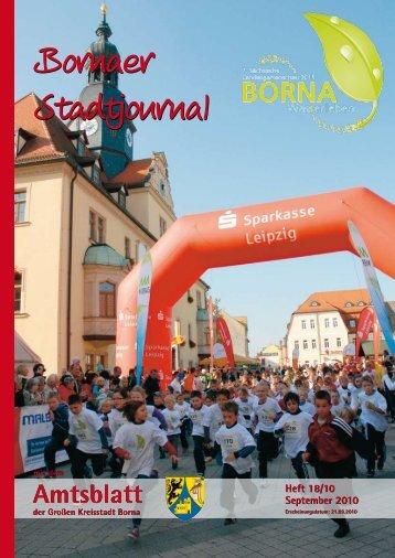 Amtsblatt der Großen Kreisstadt Borna 18/10 - Druckhaus Borna