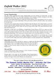 Enfield Walker 2012 - Suffolk County Athletics Association