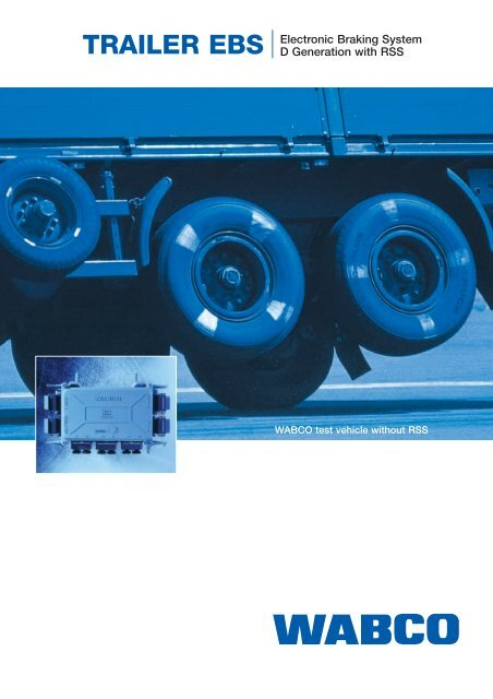 TRAILER EBS Electronic Braking System D Generation with RSS