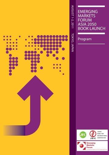 Tokyo Program July 22.pdf - Emerging Markets Forum