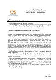 Université de Toulouse 3 - Commission des Titres d'Ingénieur
