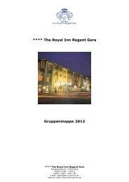 Royal Inn Hotel Regent Gera Gruppenmappe - The Royal Inn ...