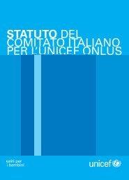 Per scaricare lo Statuto dell'UNICEF Italia clicca qui