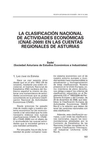 la clasificación nacional de actividades económicas (cnae-2009)
