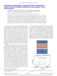 Performance improvement of longwave infrared photodetector ...
