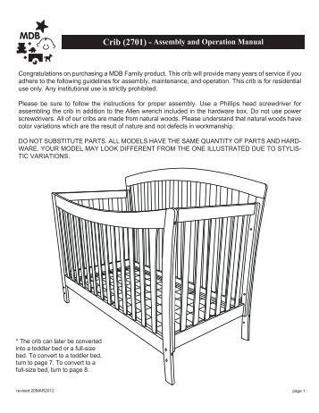 Jardine Crib Conversion Kit Jardine Madison Crib