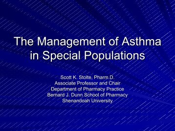 Management of Asthma - Free CE Continuing Education online ...