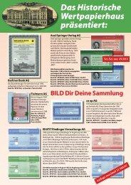 Spezial-Angebot Historische Wertpapiere #2 - HWPH AG