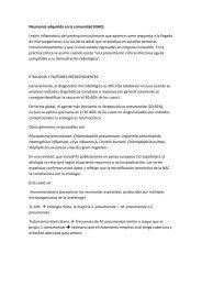 Neumonía adquirida en la comunidad (NAC): Lesión inflamatoria ...