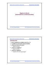 Álgebra de Boole (Automatismos combinacionales) - Departamento ...