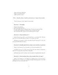 TD 4 : Familles libres, familles génératrices et bases d'un module