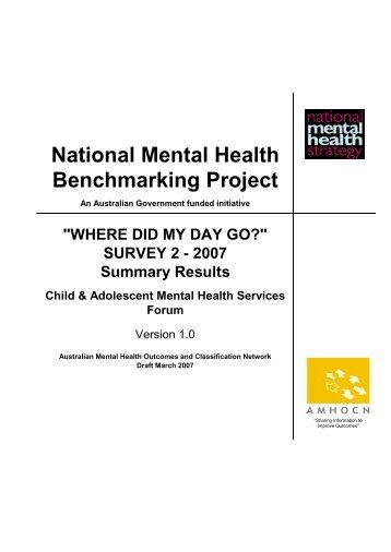 NON CLINICAL - Australian Mental Health Outcomes and ...