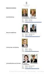Übersicht relevante Ansprechpartner dt. neu - Der Europäische Hof
